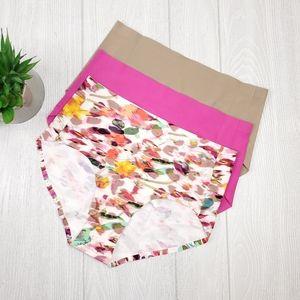 Rhonda Shear 3PK Seamless Panties M, L, XL, 2X